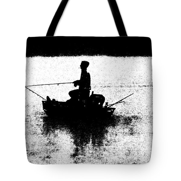 Foggy River Dawn Tote Bag