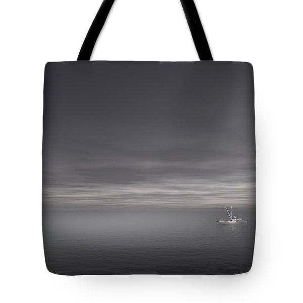 Foggy Stillness Tote Bag by Lourry Legarde