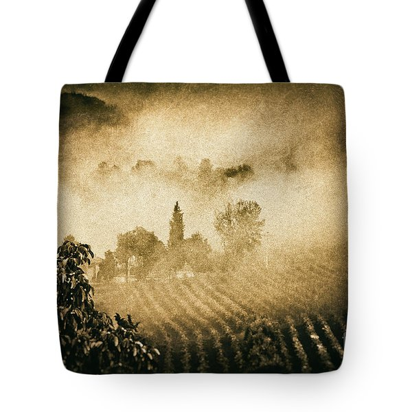 Tote Bag featuring the photograph Foggy Tuscany by Silvia Ganora