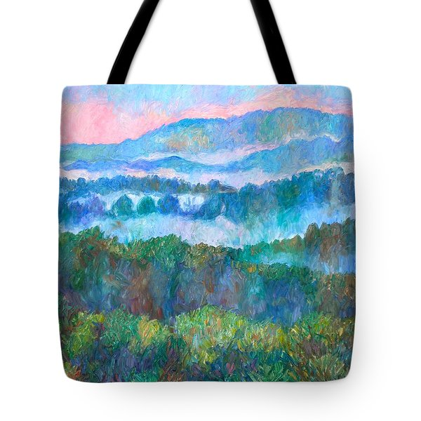 Foggy View From Mill Mountain Tote Bag by Kendall Kessler