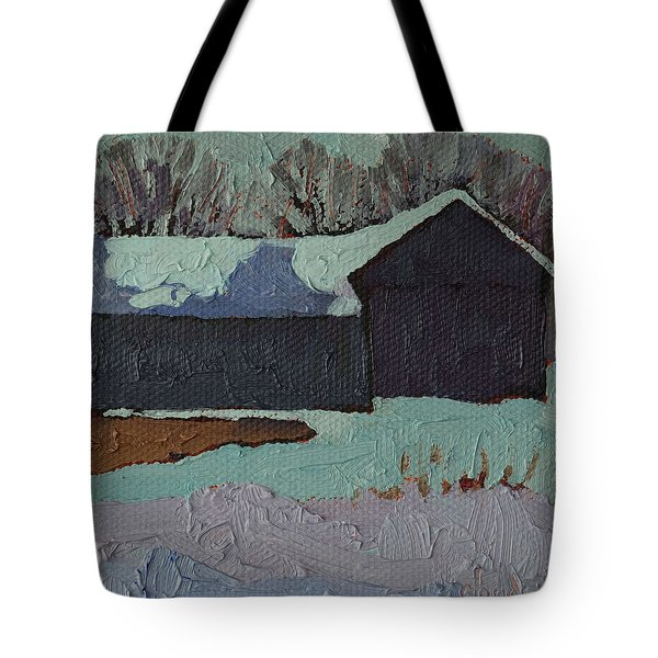 Foley Mountain Farm Tote Bag by Phil Chadwick