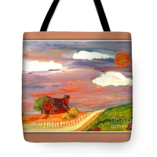 Tote Bag featuring the painting Folk Art by Bobbee Rickard
