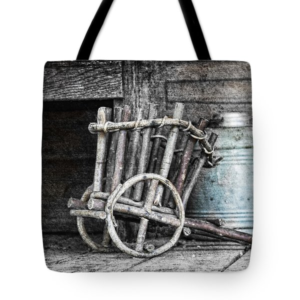 Folk Art Cart Still Life Tote Bag