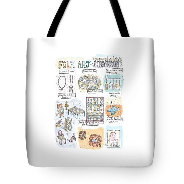 'folk Art Of Midtown' Tote Bag
