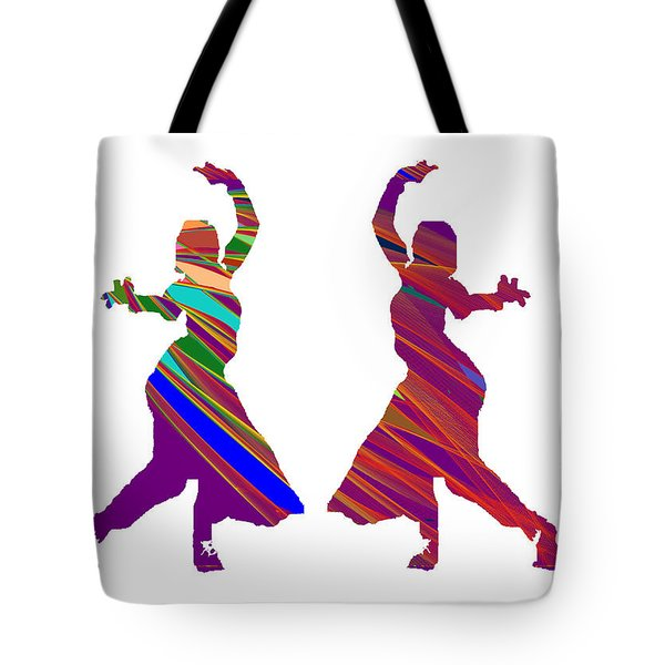 Tote Bag featuring the photograph Folk Dance Sparkle Graphic Decorations by Navin Joshi