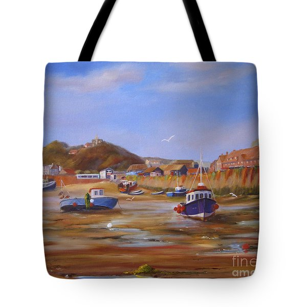 Folkestone Harbour Low Tide Tote Bag