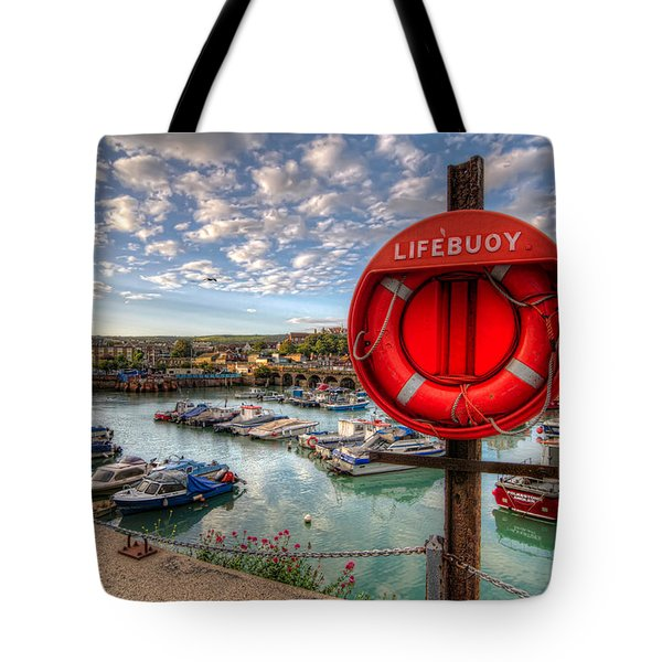 Folkstone Harbour Tote Bag by Tim Stanley