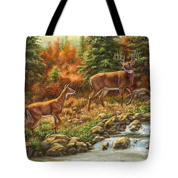 Whitetail Deer - Follow Me Tote Bag