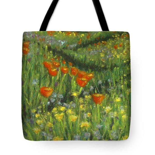 Poppy Trail Tote Bag