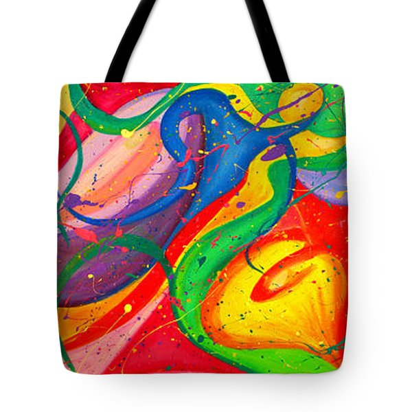 Follow Me Triptych Tote Bag