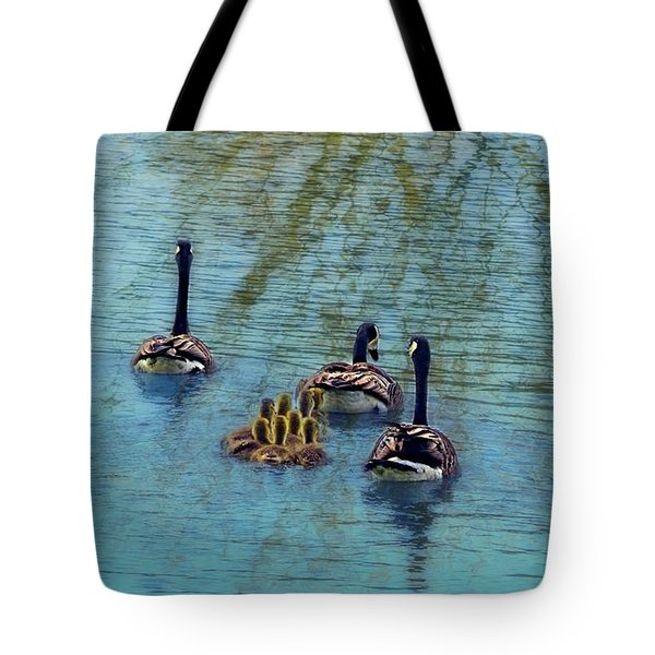 Follow The Leader Baby Tote Bag by Peggy Franz
