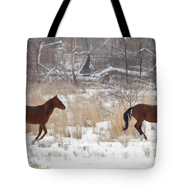Follow The Leader Tote Bag by Mike  Dawson