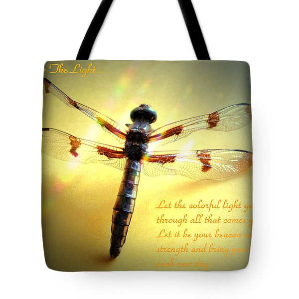 Follow The Light Tote Bag by Joyce Dickens
