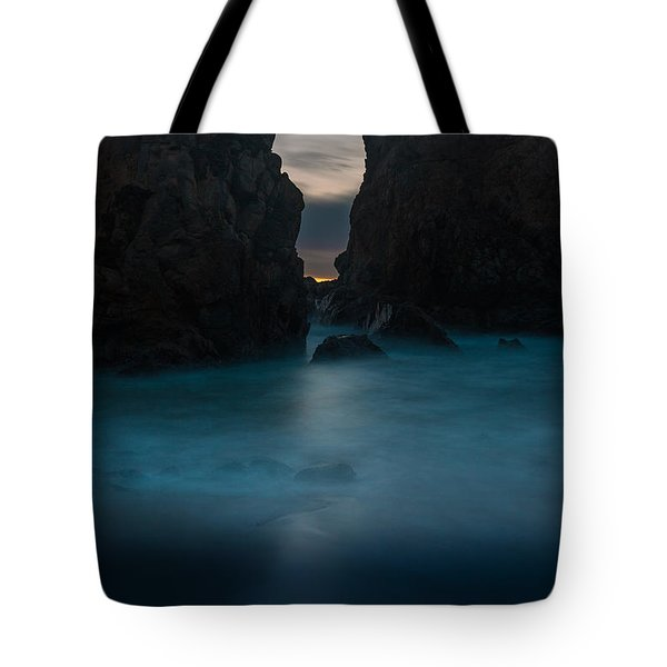 Follow The Light.... Big Sur Tote Bag