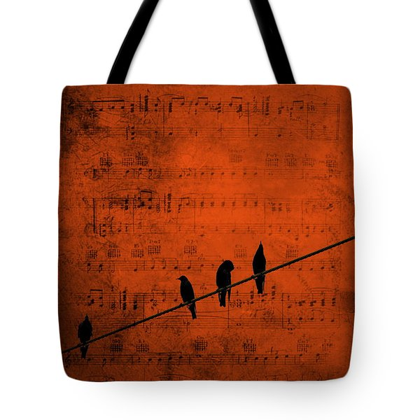 Follow The Music Tote Bag by Andrea Kollo
