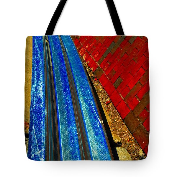 Follow The Rails Tote Bag by Marcia Lee Jones