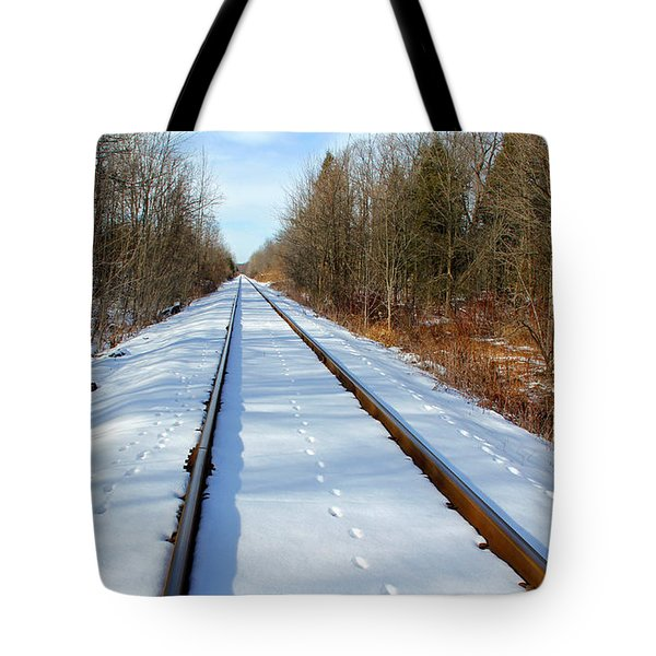 Tote Bag featuring the photograph Follow Your Own Path by Debbie Oppermann