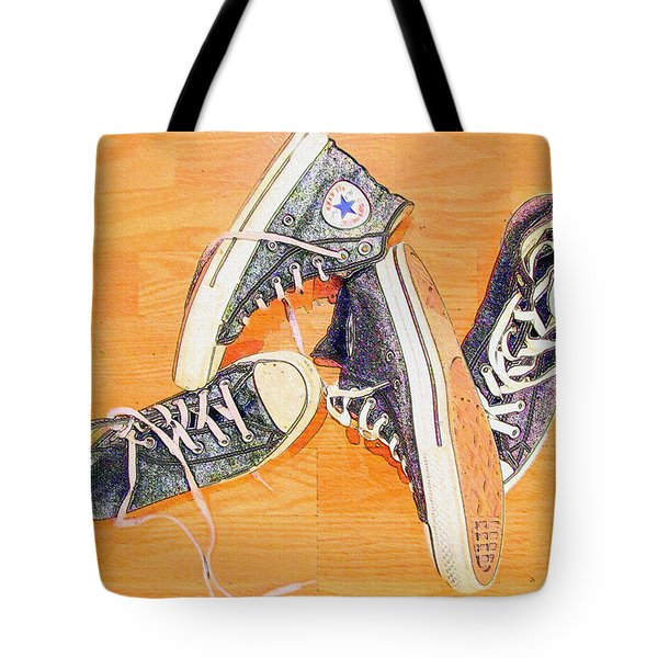 Tote Bag featuring the photograph Following In The Footsteps by Greg Simmons