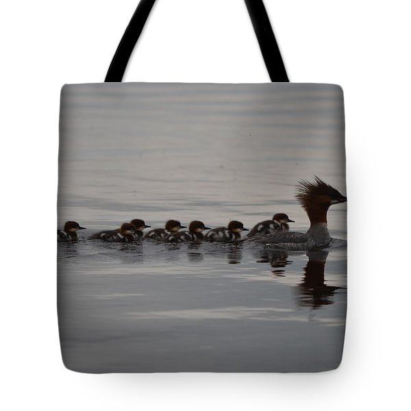 Following Mom Tote Bag
