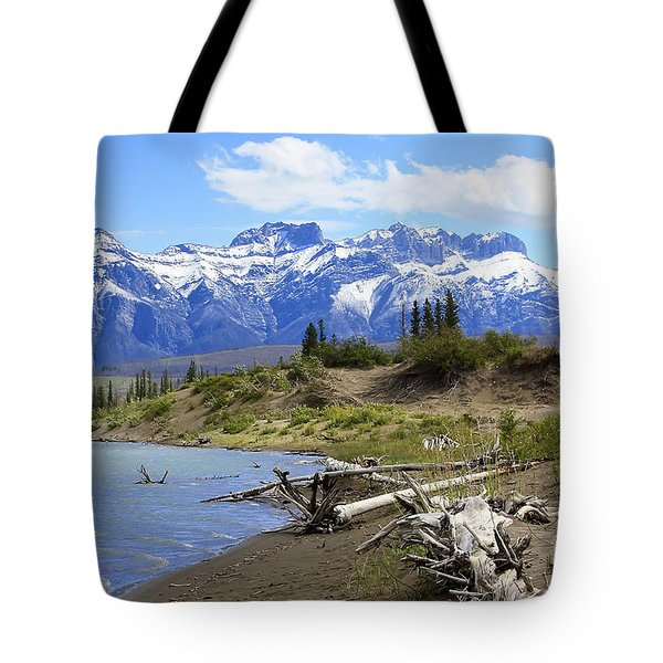 Following The Athabasca River Tote Bag by Teresa Zieba