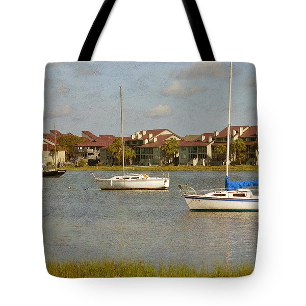 Folly Beach Boats Tote Bag
