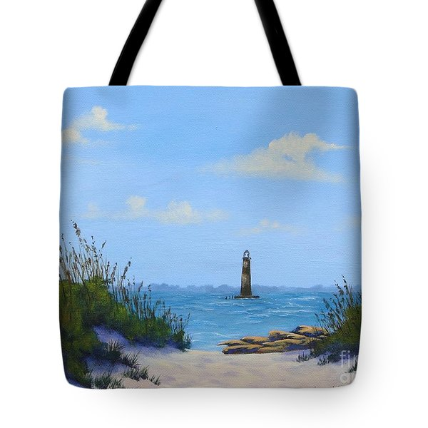 Folly Beach Lighthouse Tote Bag
