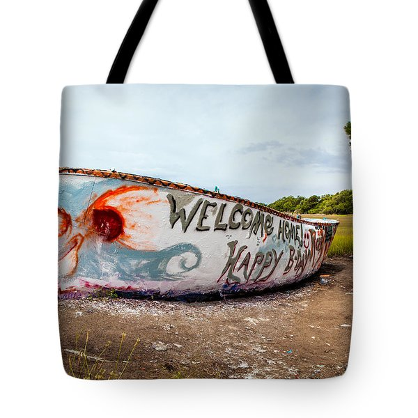 Tote Bag featuring the photograph Folly Boat by Sennie Pierson