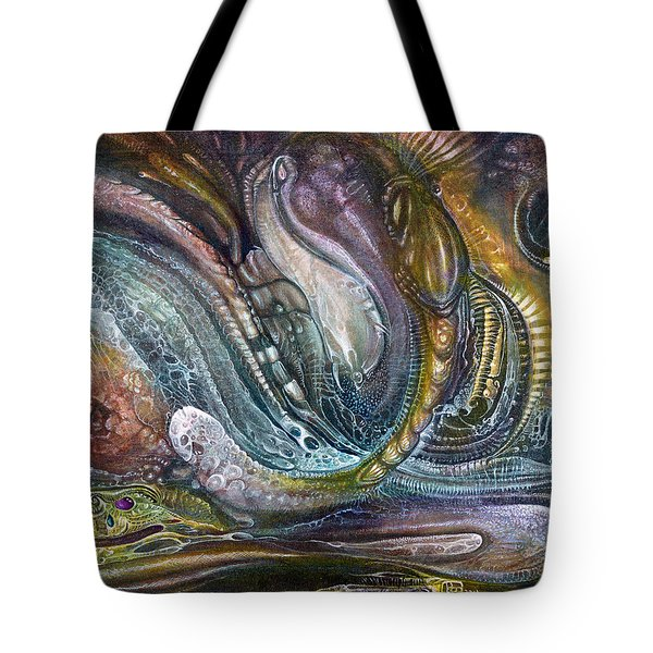 Tote Bag featuring the painting Fomorii Interior II by Otto Rapp