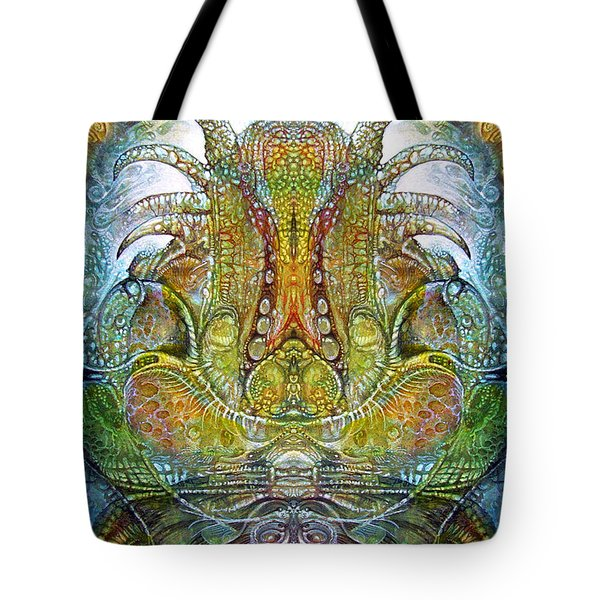 Tote Bag featuring the digital art Fomorii Throne by Otto Rapp
