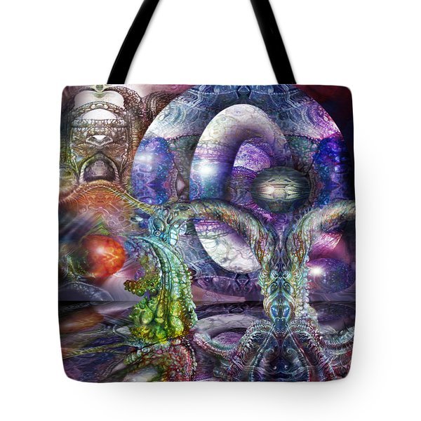 Tote Bag featuring the digital art Fomorii Universe by Otto Rapp