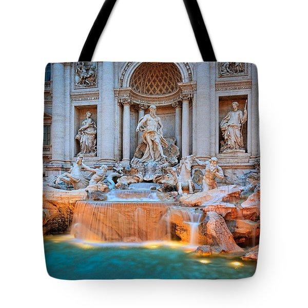 Fontana Di Trevi Tote Bag by Inge Johnsson