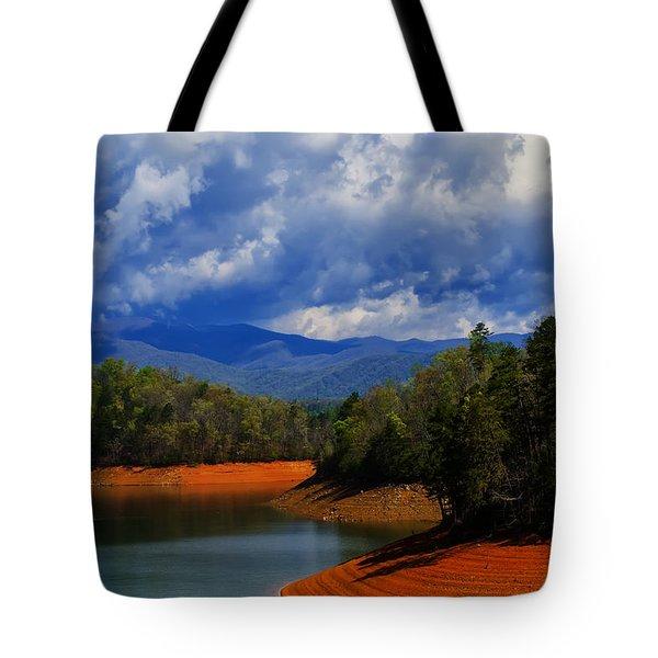 Fontana Lake Storm Tote Bag