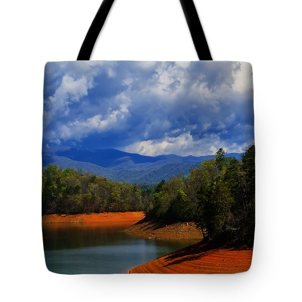 Fontana Lake Storm Tote Bag