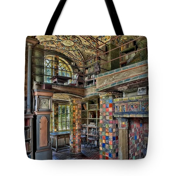 Fonthill Castle Library Room Tote Bag by Susan Candelario