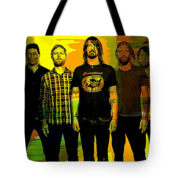 Foo Fighters Tote Bag by Marvin Blaine