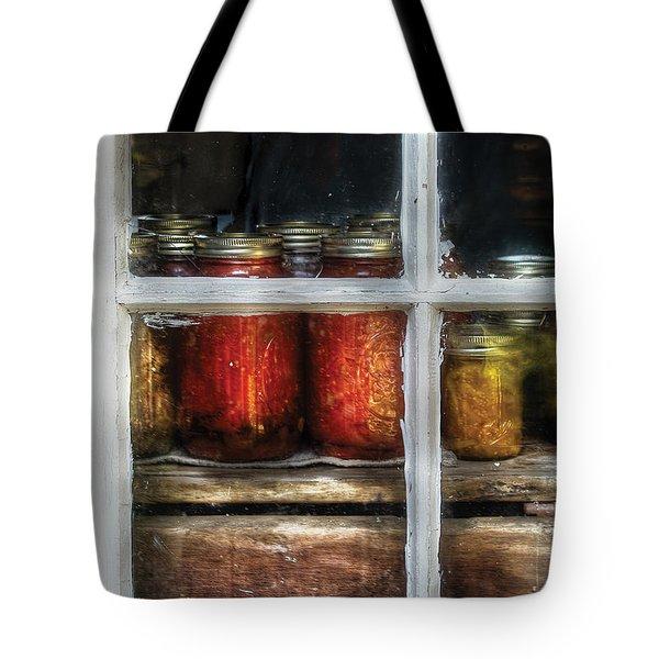 Food - Country Preserves  Tote Bag by Mike Savad