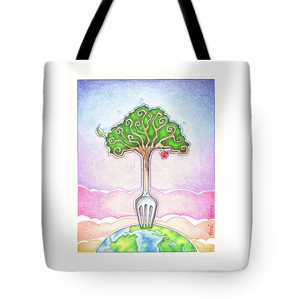 Food For Life Tote Bag by Pop Art Diva