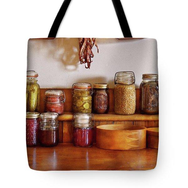 Food - I Love Preserving Things Tote Bag by Mike Savad