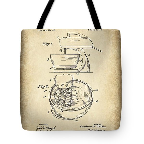 Food Mixer Patent Kitchen Art Tote Bag