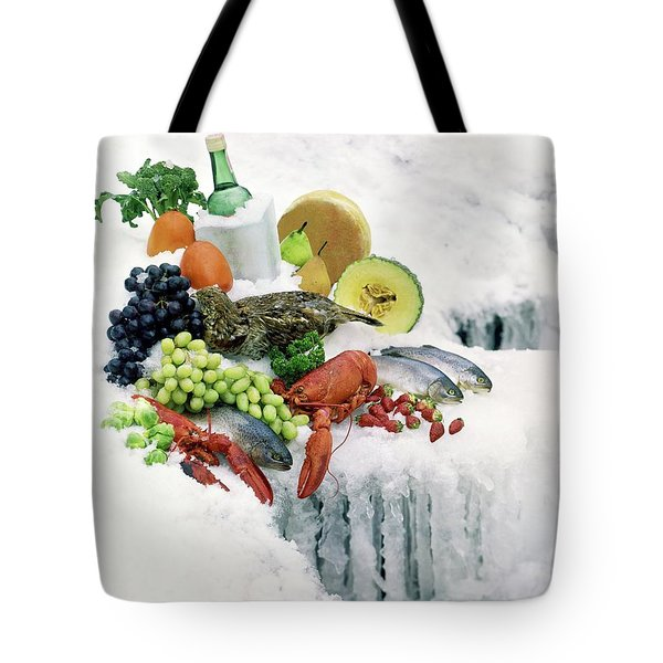 Food On Ice Tote Bag