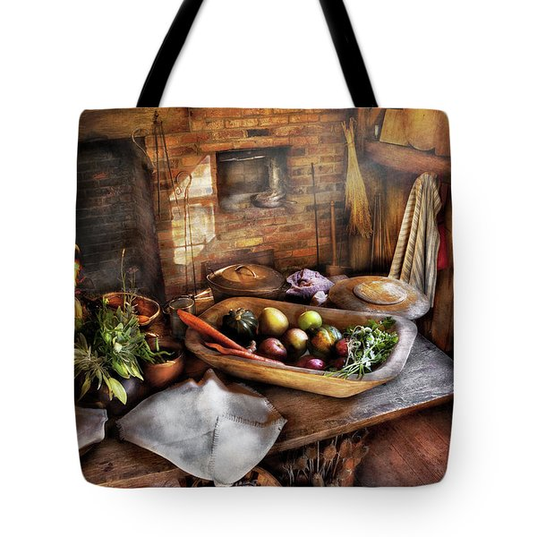 Food - The Start Of A Healthy Meal  Tote Bag by Mike Savad