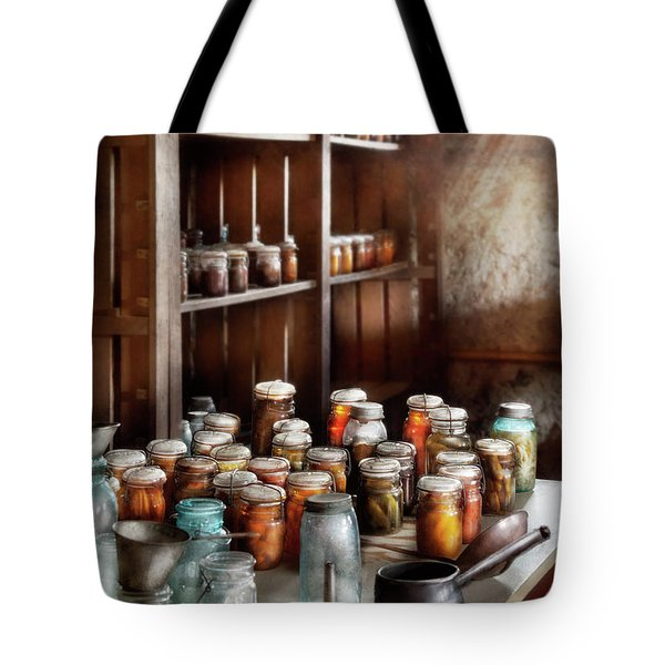 Food - The Winter Pantry  Tote Bag by Mike Savad
