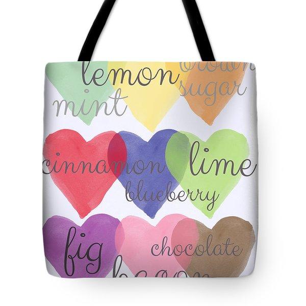 Foodie Love Tote Bag by Linda Woods