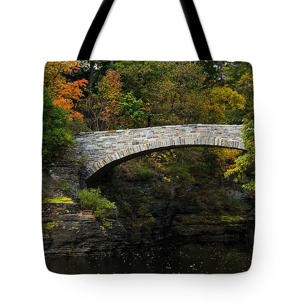 Foot Bridge At Beebe Lake Tote Bag