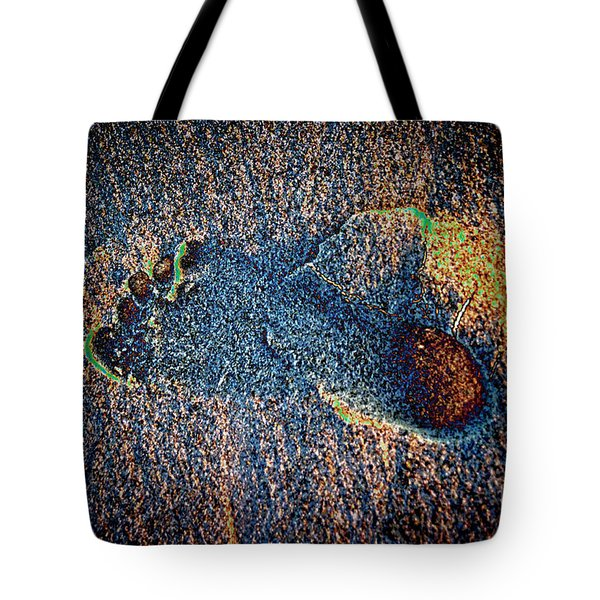 Tote Bag featuring the photograph Foot In The Sand by Mariola Bitner