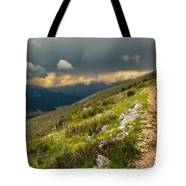 Foot Path Into The French Alps Tote Bag