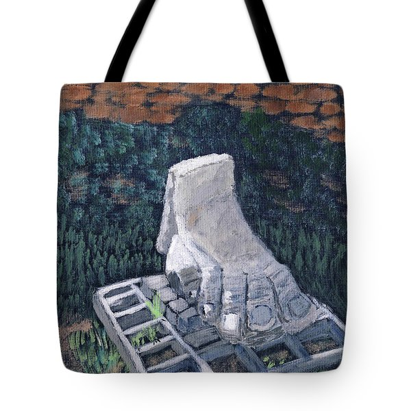 Foot Statue-caesaria Tote Bag