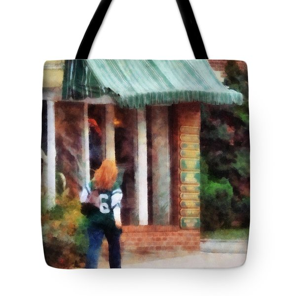Football Fan Tote Bag by Susan Savad