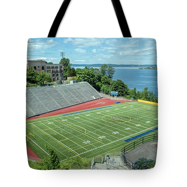 Football Field By The Bay Tote Bag