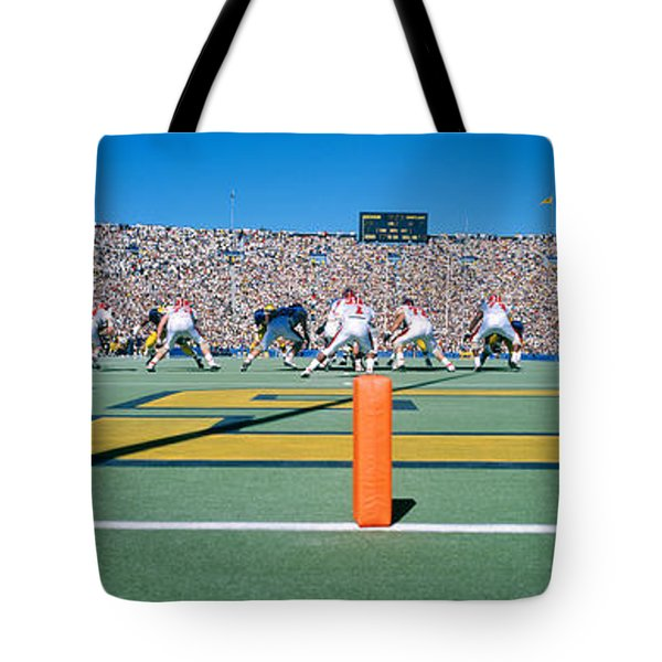 Football Game, University Of Michigan Tote Bag by Panoramic Images